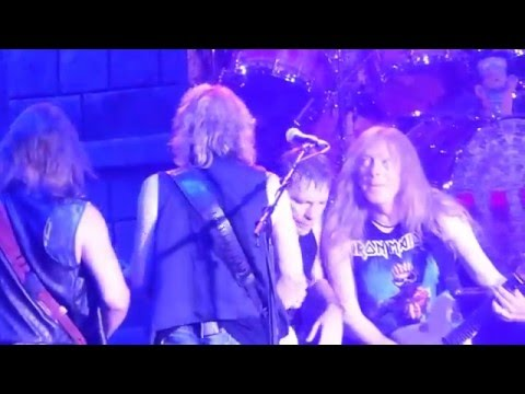 Iron Maiden - Wasted Years @ The Forum, Inglewood, CA, USA 4/15/2016 The Book of Souls World Tour