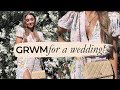 GRWM FOR A WEDDING! Hair, Makeup & Outfit | Julia Havens