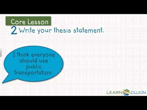 Opinion Thesis Statement and Order of Importance