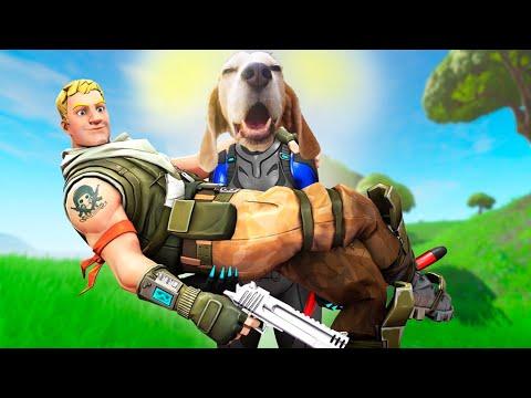Funny Dog Plays FORTNITE *LEGENDARY* : Louie The Beagle