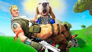 Dog Plays Fortnite Battle Royal  *LEGENDARY* : Louie The Beagle