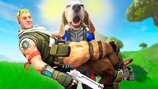 Dog Plays Fortnite Battle Royal  *LEGENDARY* : Louie The Beagle