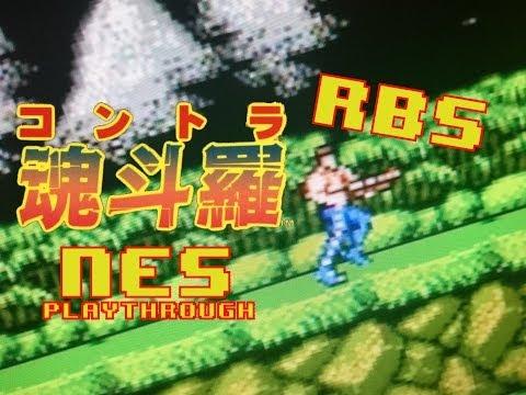 RBS Contra Japanese Version ( Playthrough ) Nintendo NES