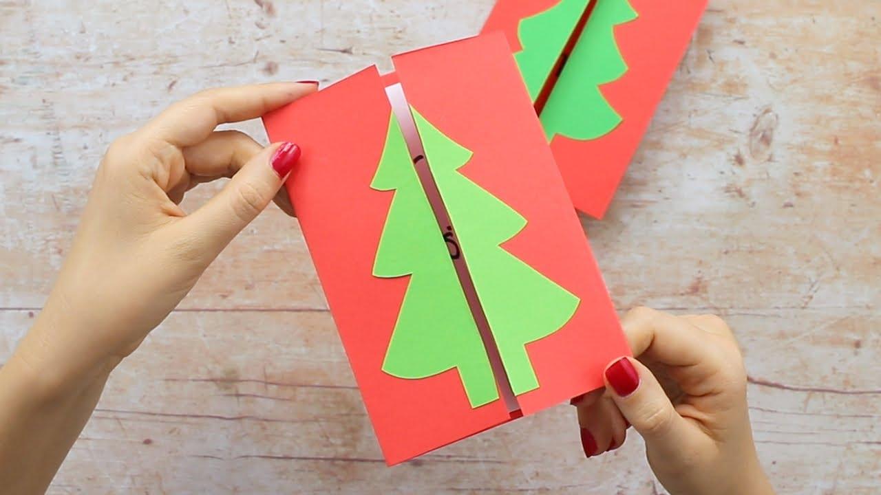 Simple Homemade Christmas Card Ideas Christmas Tree Card Youtube