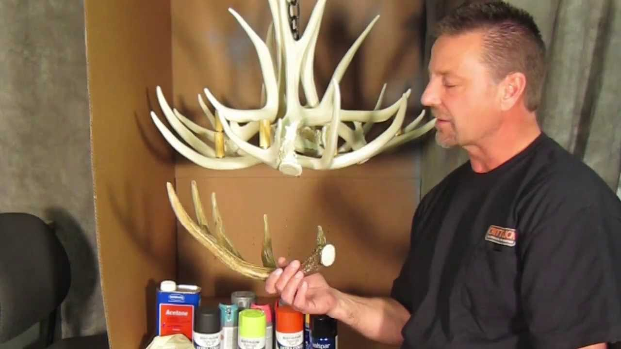 How to paint a chandelier by cast horn designs youtube arubaitofo Images
