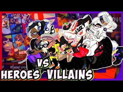 ABM: Splatoon 2 Splatfest !! SUPER SMASH BROS ULTIMATE !! Team Heroes Vs Team Villains !! HD