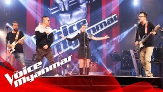 """""""ေရေပၚဆီ / Rap 'N' Roll"""" - Live Final - The Voice Myanmar 2018"""