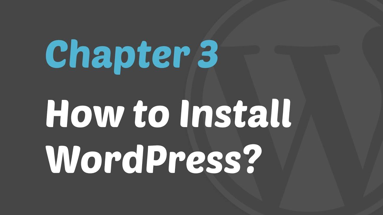 How to Install WordPress Manually On Any Web Hosting @ MyThemeShop