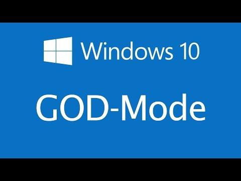 Windows 10 GOD-Mode einstellen
