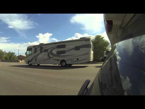 RV Traffic to and from Rocky Point, Mexico on AZ SR 85, 17 October 2015, GP060019