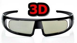 TOSHIBA 3D BRILLE FPT-AG02G UNBOXING + TEST - ACTIVE 3D GLASSES