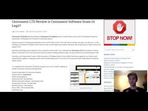 Centument LTD Review  2016 - Centument Trading Software Revealed - Scam Or Trusted? - SHOCKING. . .