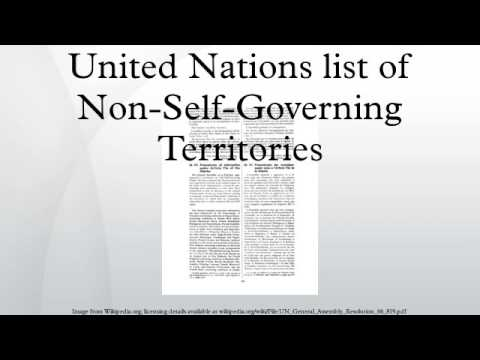 United Nations list of Non-Self-Governing Territories