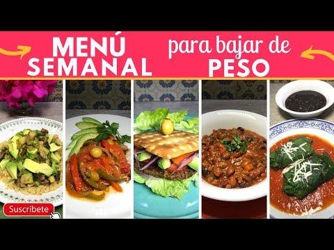 Menú Semanal Para Bajar De  Peso   Cocina De Addy