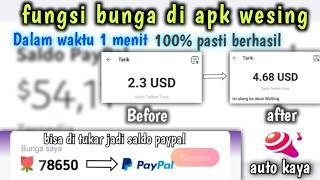 Fungsi Bunga Di Apk Wesing Pulsa Dan Saldo Paypal Gratis Dienamsyadiah Youtube