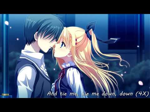 Nightcore - Tie Me Down {lyric Video}