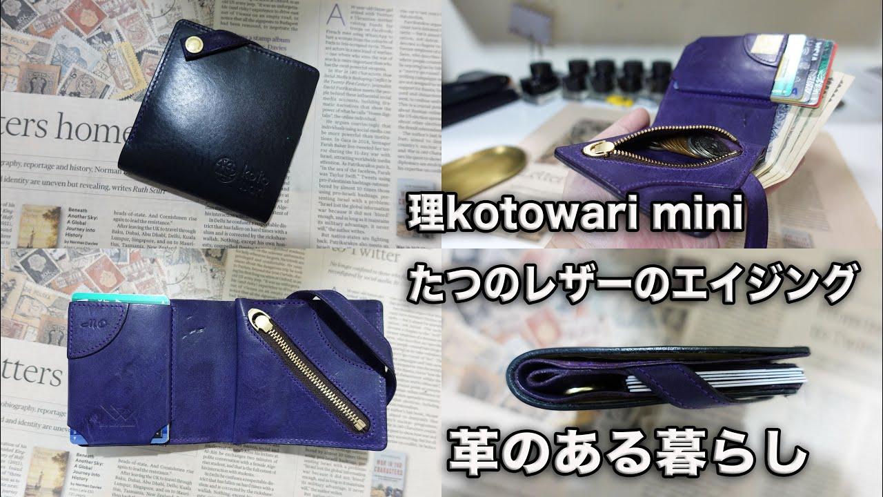 理kotowari mini たつのレザー・プログレのエイジング