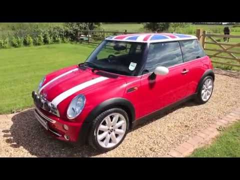 mini cooper red 2005 union jack roof youtube. Black Bedroom Furniture Sets. Home Design Ideas