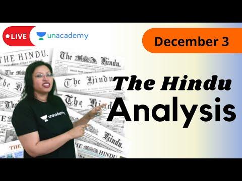 The Hindu Analysis | 3rd December | Live on Unacademy CATalyst | By Abhilasha Swarup |