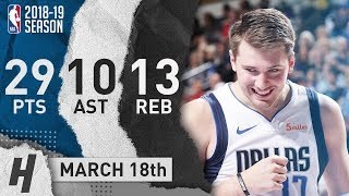 Luka Doncic Triple-Double Full Highlights Mavericks vs Pelicans 2019.03.18 - 29 Pts, 13 Reb, 10 Ast!