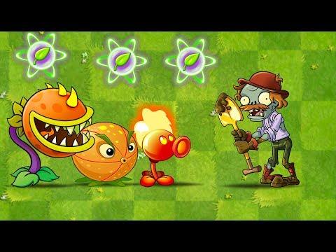 Plants vs Zombies 2 Every Plants Power UP VS Excavator Zombie in Plantas Contra Zombies 2 MOD