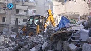 غارات جوية تشعل الأحياء الشرقية في حلب
