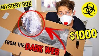 BUYING A $1000 MYSTERY BOX FROM THE DARK WEB AND THIS IS WHAT HAPPENED (WEIRD) CHALLENGE