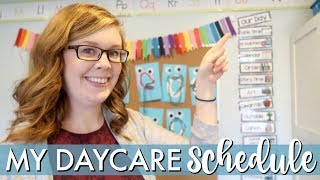 Planning a daycare schedule for ten kids under five years old that ...