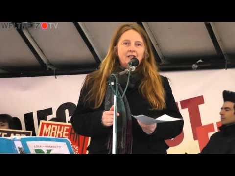 Demo gegen NATO Sicherheitskonferenz München 2016: Claudia Haydt, IMI