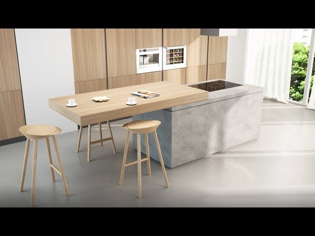 Breakfast Top Sliding Kitchen Island Extension Box15 Youtube