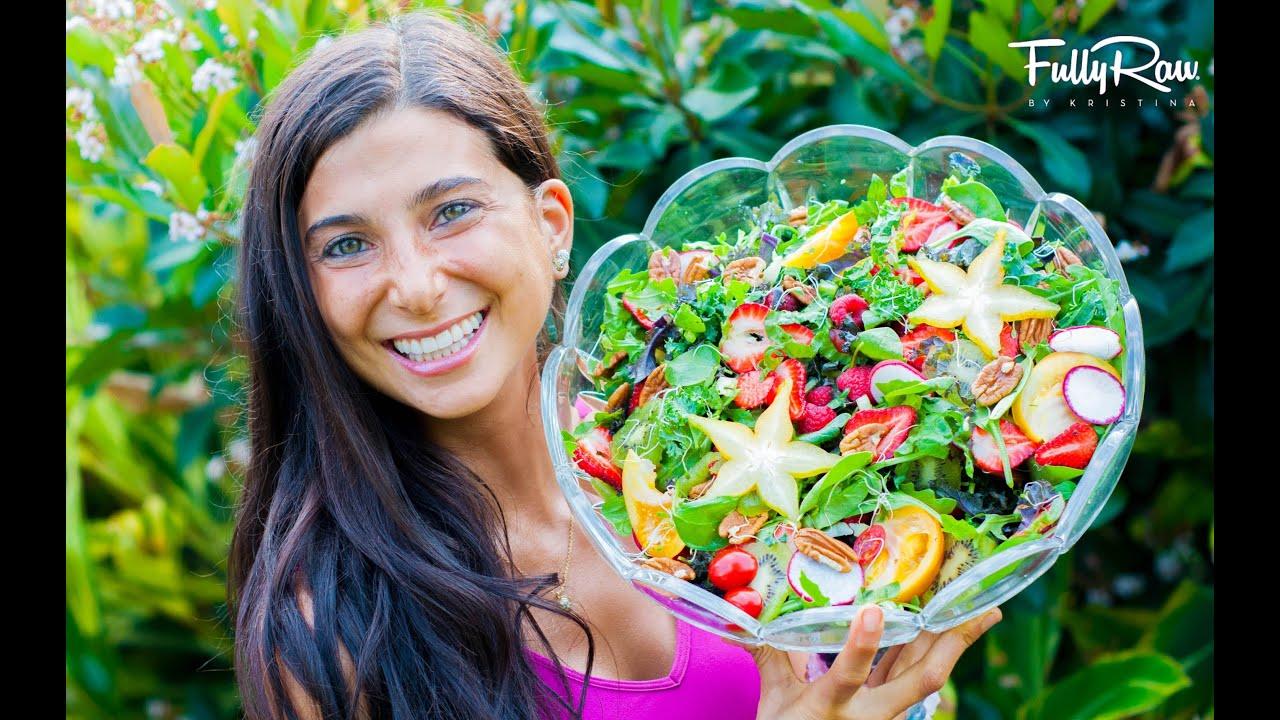 The FullyRaw Spring Salad YouTube