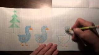 РИСУЕМ ПО КЛЕТКАМ  ГУСАКИ  Серия Логопедия с улыбкой  2010 год