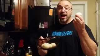 Recipe - Hard Boiled Eggs With Sour Cream And Hot Sauce