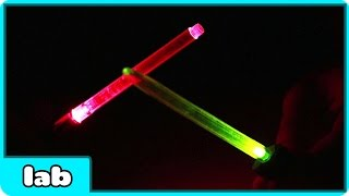 Star Wars The Force Awakens Special: How To Make Mini Lightsabers At Home By HooplakidzLab