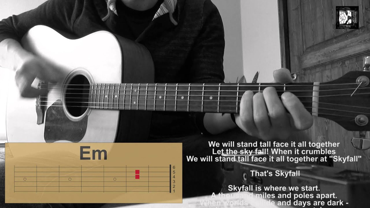 Adele Skyfall How To Play The Song Cover Chords Lyrics Guitar