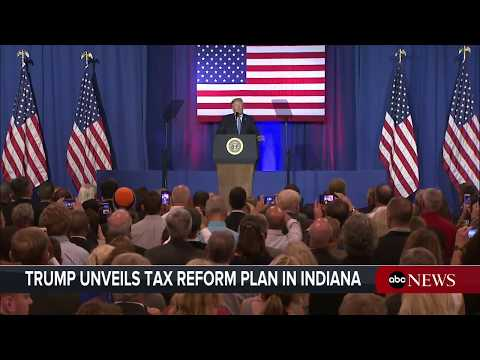 President Donald Trump delivers remarks on tax reform in Indianapolis