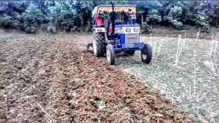 ट्रैक्टर से जुताई || धान कि खेती की तैयारी |Gaon ke khet