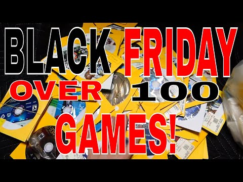 BLACK FRIDAY Dumpster Diving: OVER 100 GAMES!! Gamestop Night #607