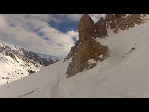 Snowbird, Utah. A late December run down Junior's Powder Paradise