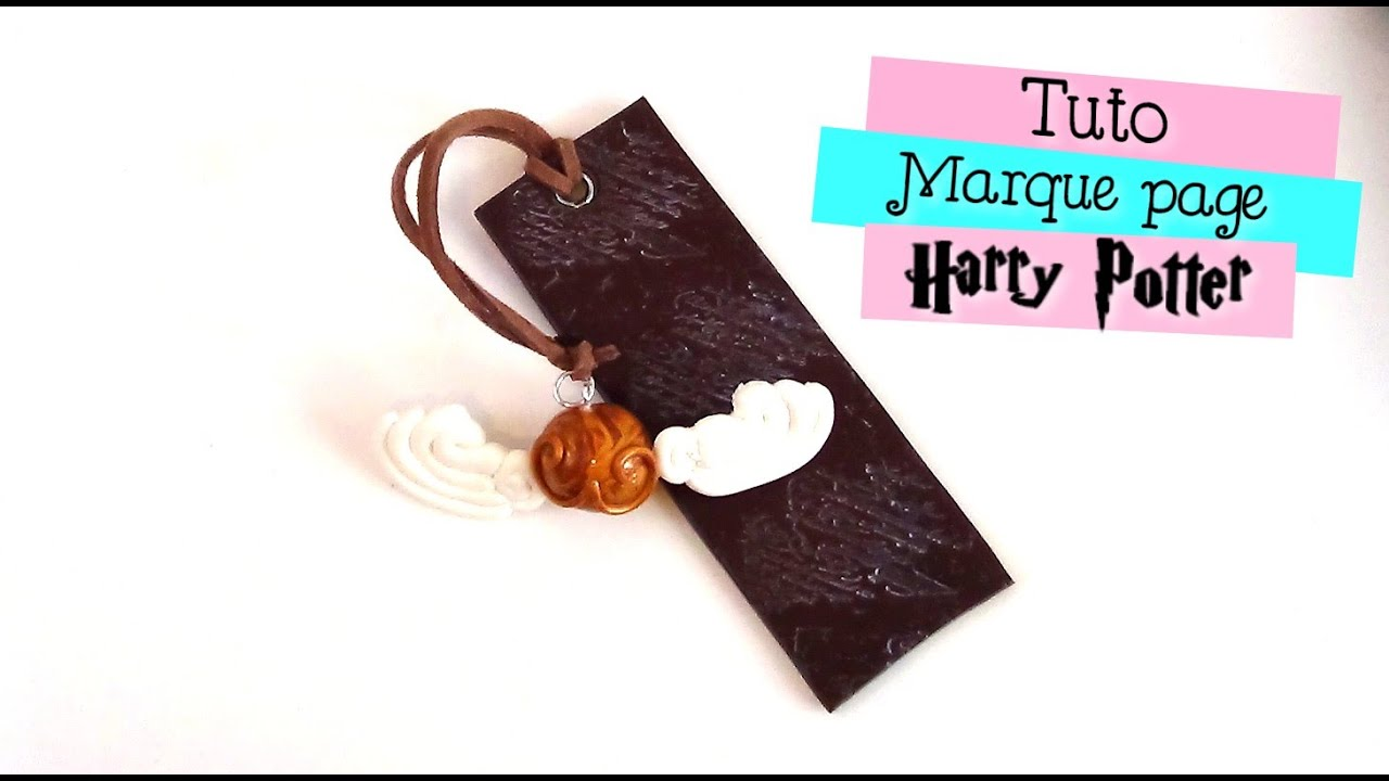 little fimo marque page harry potter youtube. Black Bedroom Furniture Sets. Home Design Ideas