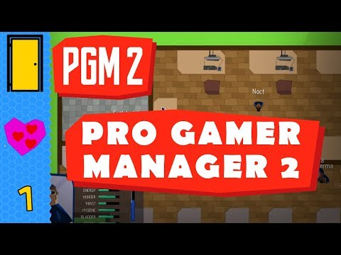 PRO GAMER MANAGER 2 - Part 1: New Crew! Let's Play Pro Gamer Manager 2