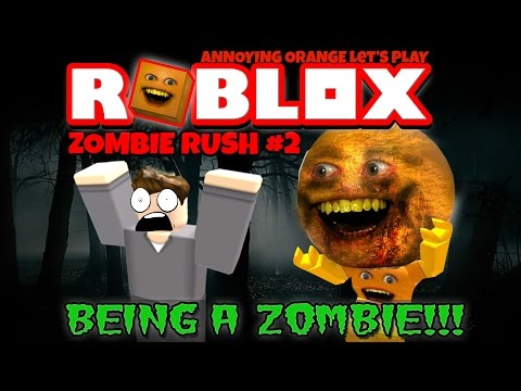 Annoying Orange Plays - ROBLOX: Zombie Rush #2 (Playing as 'Splody Zombie!)
