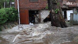 Starkregen: Unwetter sorgt für Überschwemmungen