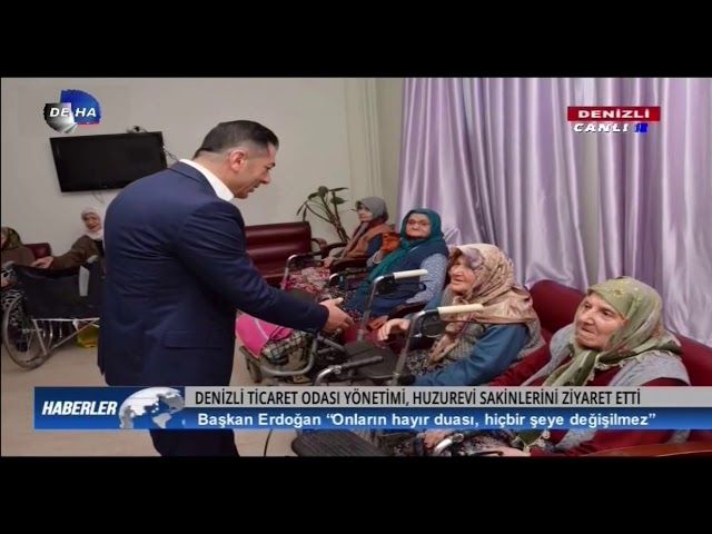 Deha TV-DTO Yönetimi, Huzurevi Sakinlerini Ziyaret Etti 13.03.2020