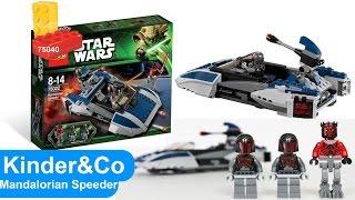 Лего звездные войны Mandalorian Speeder 75022. Видео Обзор конструктора Lego Star Wars