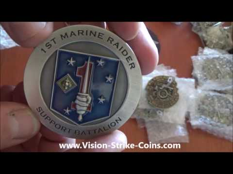 USMC 1st Marine Raiders Support Battalion Coin