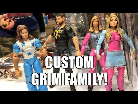 GRIM REACTS TO EPIC CUSTOM FAMILY WRESTLING ACTION FIGURES
