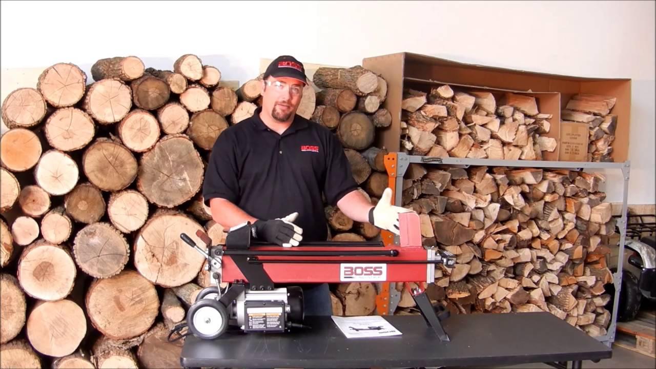 a0010e02a444 EC5T20 - Boss Industrial 5 Ton Electric Log Splitter - YouTube
