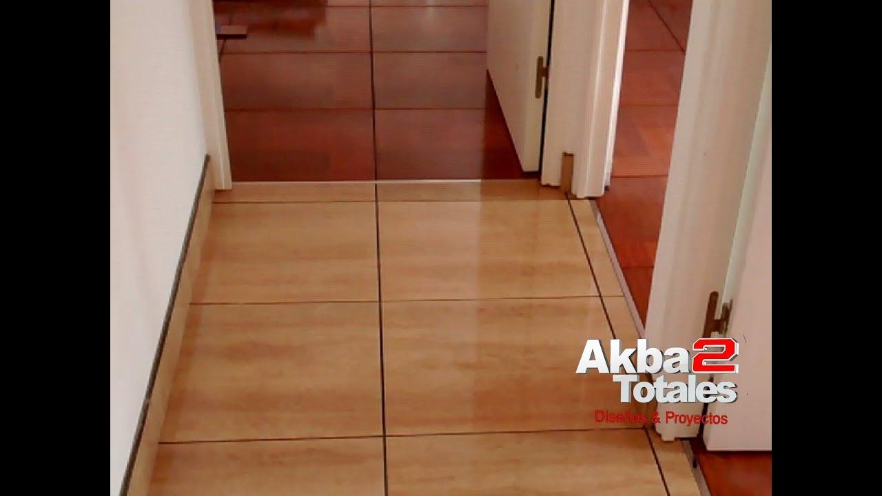 Remodelaci N De Sala Con Ceramica Madera Youtube
