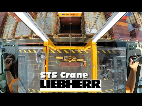 How to operate a STS Gantry Crane? Joystick CAM!! Loading a BIG vessel in the Port of Antwerp